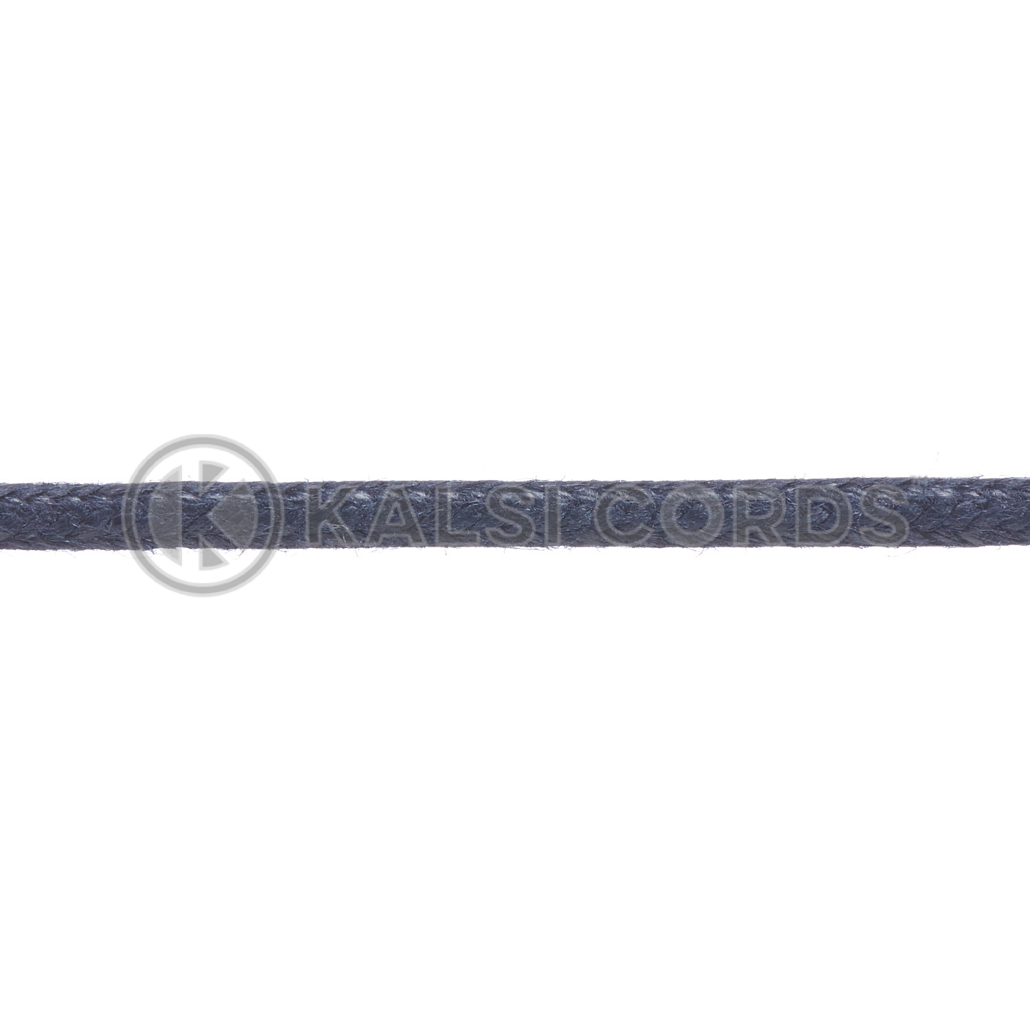 TE428 2mm Thin Fine Round Waxed Shoe Laces Cotton Dark Navy Kalsi Cords