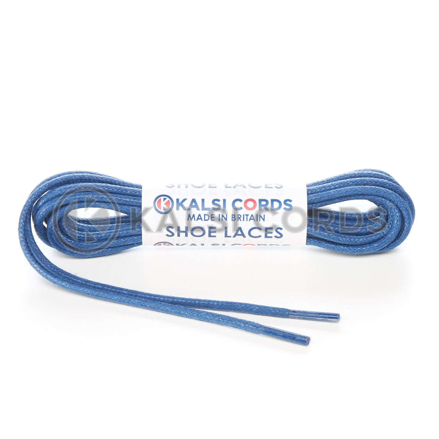 TE428 2mm Thin Fine Round Waxed Shoe Laces Cotton Navy Kalsi Cords