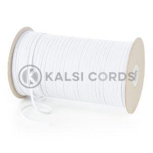 TPE10 4mm 6 Cord Flat Braided Elastic White Ecru Kalsi Cords