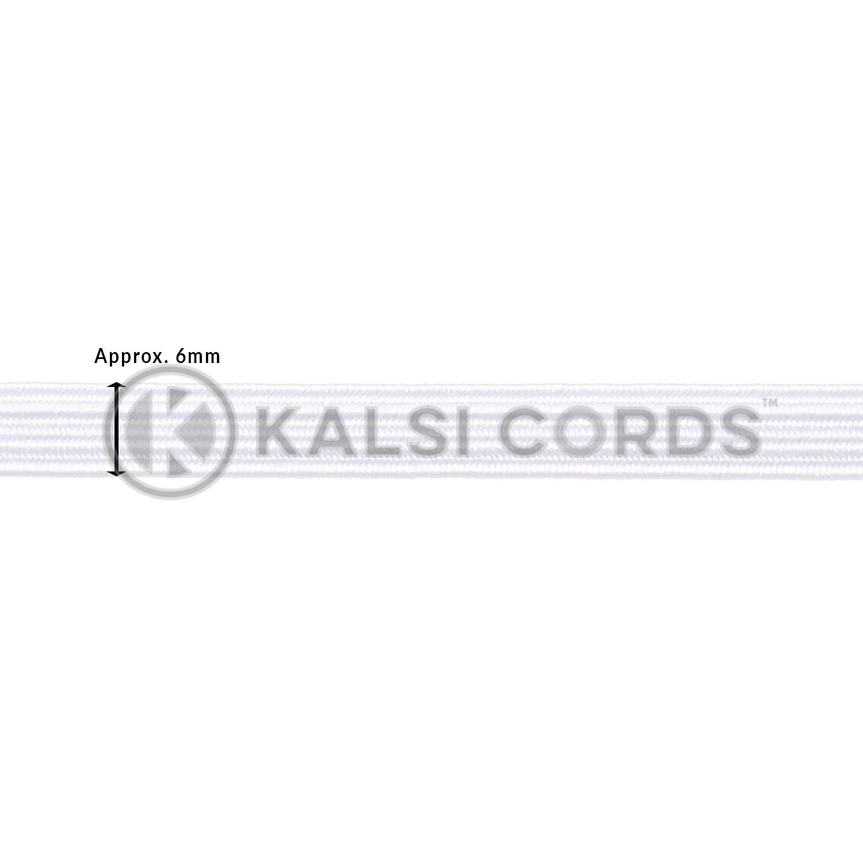TPE11 6mm 8 Cord Flat Braided Elastic White Ecru Edit 1 Kalsi Cords