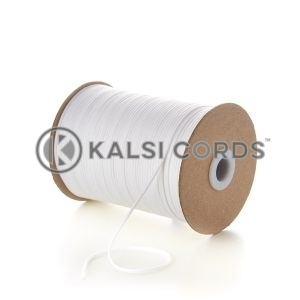 White 2mm Round Cotton Cord by Kalsi Cords
