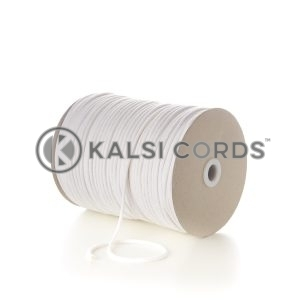White 4mm Round Cotton Cord Thin Braided String Piping Cushion Edging C223 Kalsi Cords