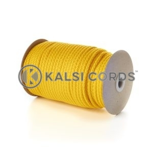 Yellow 5mm Round Knitted Cord Bag Handle Drawstring