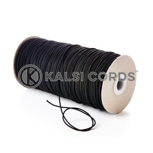 1.5mm Black Thin Fine Round Elastic Cord TPE71 Kalsi Cords Bungee Shock Cord Stretch Gift Tagging Jewelry Making Beading Labelling Garment Swing Tickets Within Garments Car Air Freshner Elastic