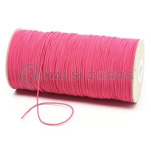 1.5mm Cerise Pink Thin Fine Round Elastic Cord TPE71 Kalsi Cords
