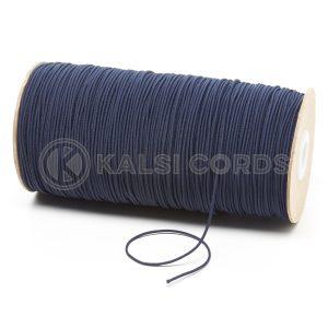 1.5mm Dark Navy Thin Fine Round Elastic Cord TPE71 Kalsi Cords