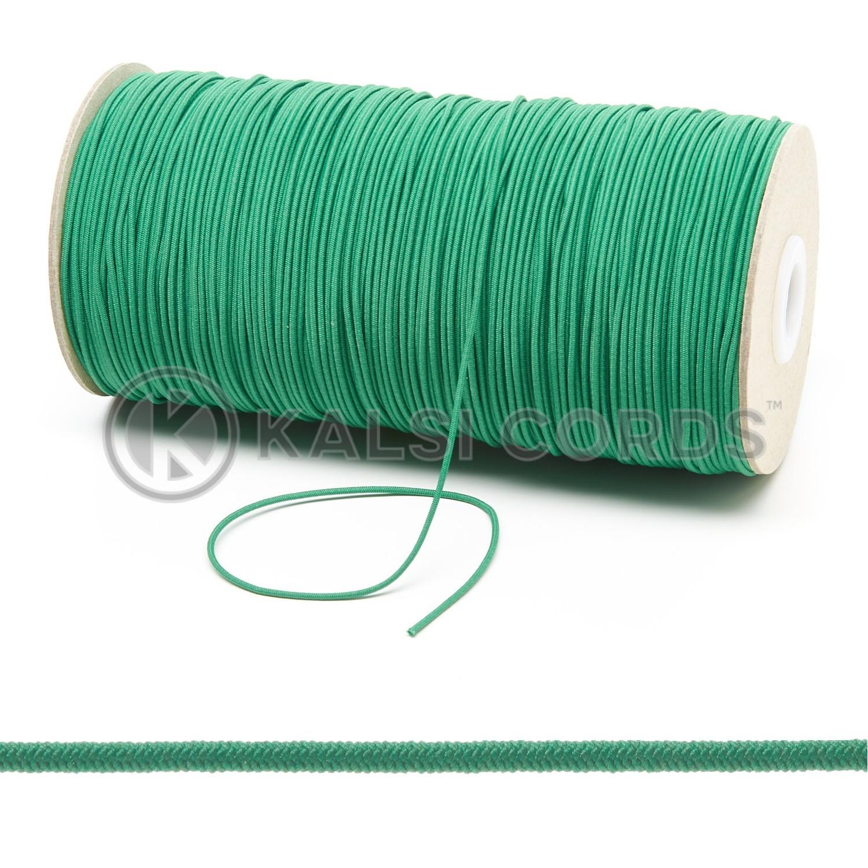 1.5mm Emerald Green Thin Fine Round Elastic Cord TPE71 Composite 1 Kalsi Cords