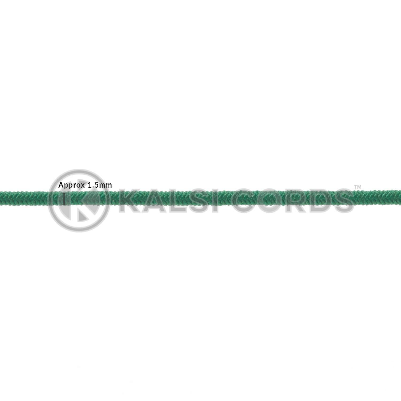 1.5mm Emerald Green Thin Fine Round Elastic Cord TPE71 Diameter Kalsi Cords