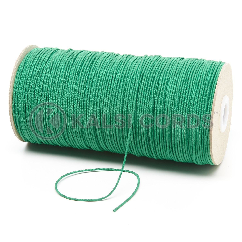 1.5mm Emerald Green Thin Fine Round Elastic Cord TPE71 Kalsi Cords