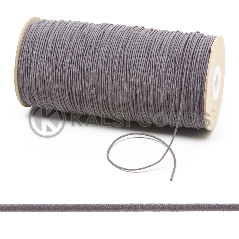 1.5mm Grey Thin Fine Round Elastic Cord TPE71 Composite 1 Kalsi Cords