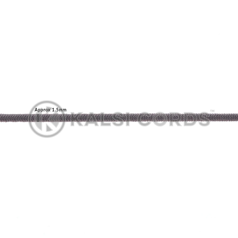 1.5mm Grey Thin Fine Round Elastic Cord TPE71 Diameter Kalsi Cords