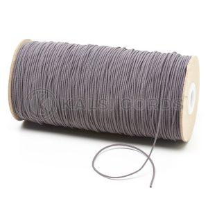 1.5mm Grey Thin Fine Round Elastic Cord TPE71 Kalsi Cords