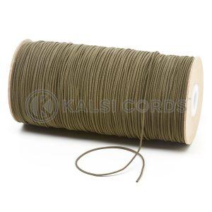 1.5mm Khaki Olive Thin Fine Round Elastic Cord TPE71 Kalsi Cords