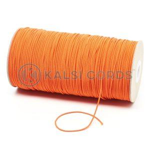 1.5mm Orange Thin Fine Round Elastic Cord TPE71 Kalsi Cords