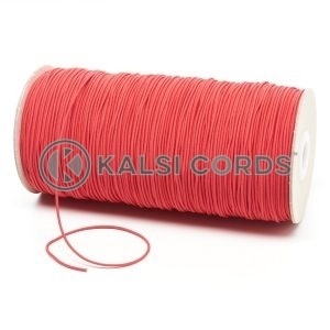 1.5mm Red Thin Fine Round Elastic Cord TPE71 Kalsi Cords