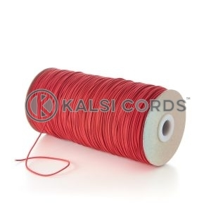 1.5mm Red Thin Fine Round Elastic Cord TPE71 Kalsi Cords Bungee Shock Cord Stretch Gift Tagging Jewelry Making Beading Labelling Garment Swing Tickets Within Garments Car Air Freshner Elastic