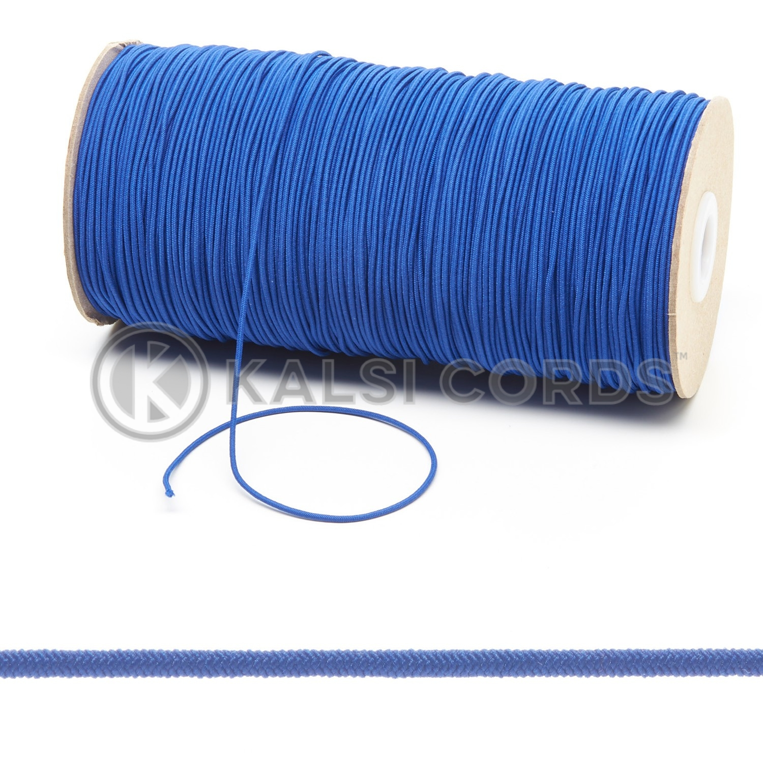 1.5mm Royal Blue Thin Fine Round Elastic Cord TPE71 Composite 1 Kalsi Cords