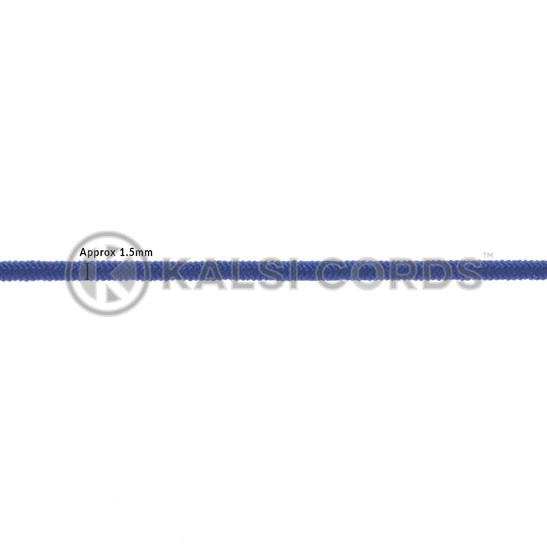 1.5mm Royal Blue Thin Fine Round Elastic Cord TPE71 Diameter Kalsi Cords