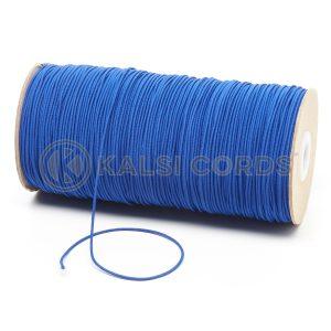 1.5mm Royal Blue Thin Fine Round Elastic Cord TPE71 Kalsi Cords