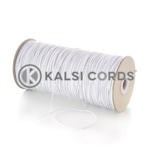 1.5mm White Ecru Thin Fine Round Elastic Cord TPE71 Kalsi Cords Bungee Shock Cord Stretch Gift Tagging Jewelry Making Beading Labelling Garment Swing Tickets Within Garments Car Air Freshner Elastic