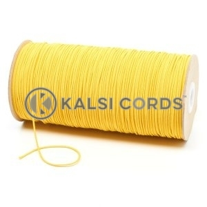 1.5mm Yellow Thin Fine Round Elastic Cord TPE71 Kalsi Cords