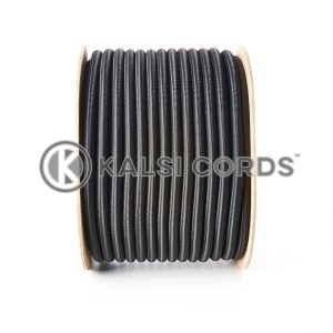 10mm Black Round Elastic Bungee Shock Cord by Kalsi Cords