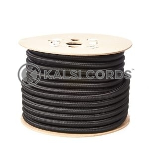 12mm Black Round Elastic Bungee Shock Cord by Kalsi Cords