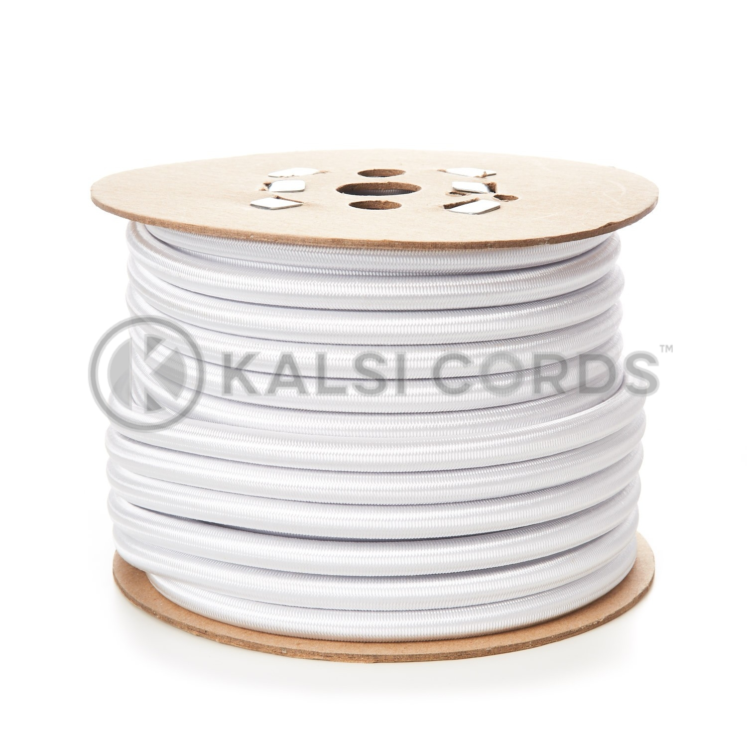12mm White Round Elastic Bungee Shock Cord by Kalsi Cords