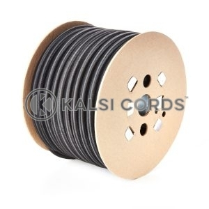 14mm Black Round Elastic Bungee Shock Cord by Kalsi Cords