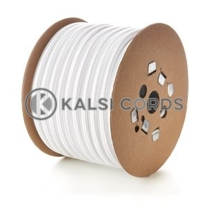 14mm White Round Elastic Bungee Shock Cord Heavy Duty Strong Polypropylene Kalsi Cords Securing Heavy Objects Tie Down Trailers Tenting Tarpaulin Camping Boating Sailing Gardening Luggage Straps Garments Drawcord Textile Products Arts Crafts Projects Indoor Outdoor DIY General Stretchy String