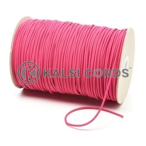 2mm Cerise Pink Thin Fine Round Elastic Cord TPE84 Kalsi Cords
