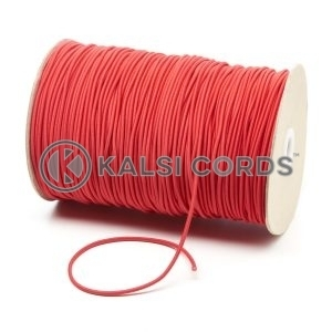 2mm Red Thin Fine Round Elastic Cord TPE84 Kalsi Cords