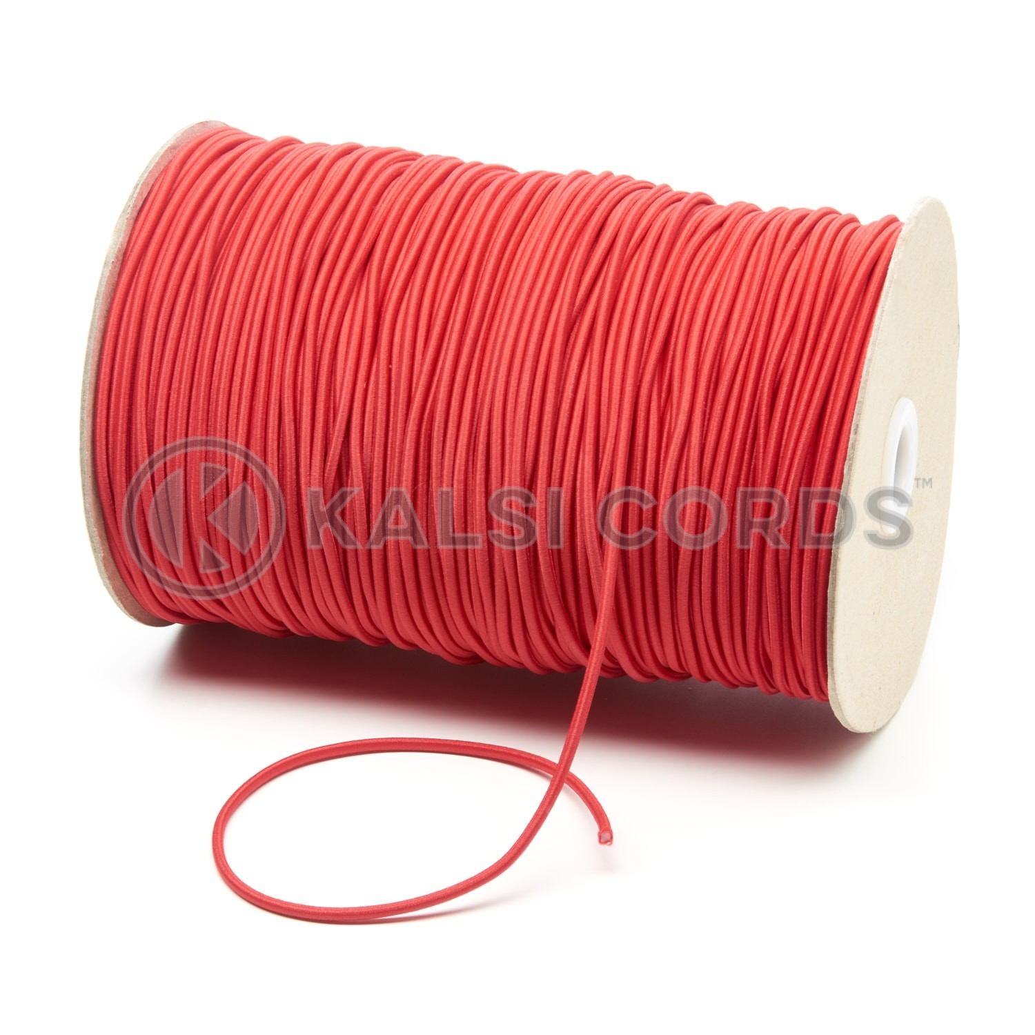 2mm Red Thin Fine Round Elastic Cord Kalsi Cords
