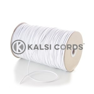2mm White Thin Fine Round Elastic Cord TPE84 Kalsi Cords Bungee Shock Cord Stretch Gift Tagging Jewelry Making Pendants Necklace Bracelet Making Hair Band Tenting Poles Crafts Projects Beading Labelling Garment Swing Tickets Garments Car Air Freshner Elastic