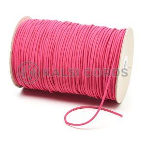 3mm Cerise Pink Thin Fine Round Elastic Cord TPE43 Kalsi Cords