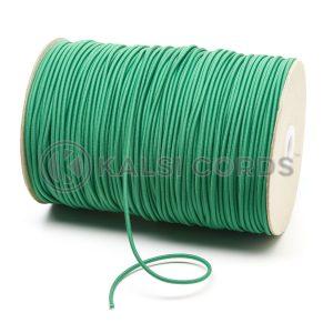 3mm Emerald Green Thin Fine Round Elastic Cord TPE43 Kalsi Cords