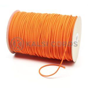 3mm Orange Thin Fine Round Elastic Cord TPE43 Kalsi Cords