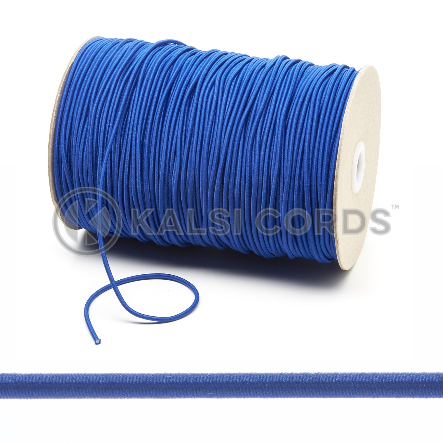 3mm Royal Blue Thin Fine Round Elastic Cord Kalsi Cords