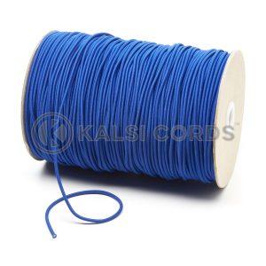 3mm Royal Blue Thin Fine Round Elastic Cord TPE43 Kalsi Cords