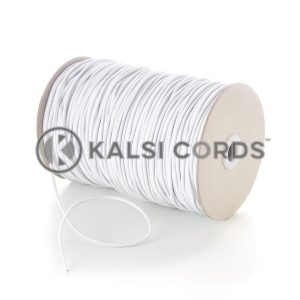 3mm White Thin Fine Round Elastic Cord Jewellery Making Beading Bracelet Pendant Anorak Jacket Coat Drawstring Drawcord Bracelet Garment Rubber String Hair Band Shock Bungee Gift Tagging Swing Tickets Tenting Poles Crafts Kalsi Cords
