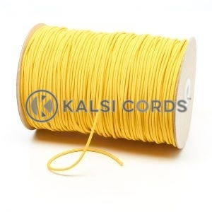 3mm Yellow Thin Fine Round Elastic Cord TPE43 Kalsi Cords