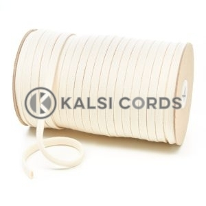 C242 7mm Flat Tubular Cotton Braid Natural Kalsi Cords