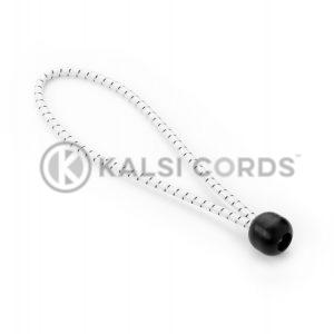 Elastic Ball Tie Loops BTL PE114 NAT BLK Kalsi Cords 1