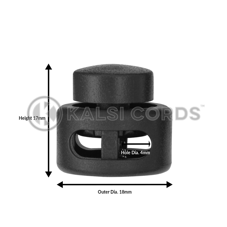 10  large Black Plastic cord LOCKS stopper Toggle Drawstring Cord STOP 1ST POST