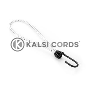 Elastic Metal Hook Loop Ties MHL PE114 NAT BLK Kalsi Cords 1