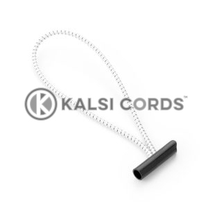 Elastic T Bar Loop Ties TBL PE116 NAT BLK Kalsi Cords 1