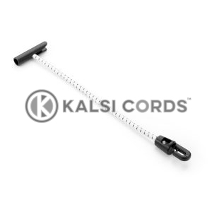 Elastic T Bar Mini Hook Ties TB MHT PE114 NAT BLK Kalsi Cords 1