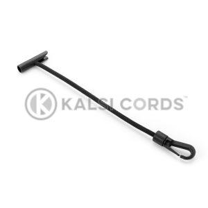 Elastic T Bar Plastic Gated Hook TB PGH PE114 BLK Kalsi Cords 1
