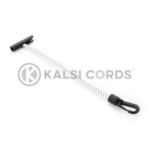 Elastic T Bar Plastic Gated Hook TB PGH PE114 NAT BLK Kalsi Cords 1