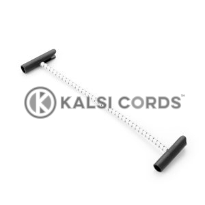 Elastic T Bar Ties TB PE114 NAT BLK Kalsi Cords 1